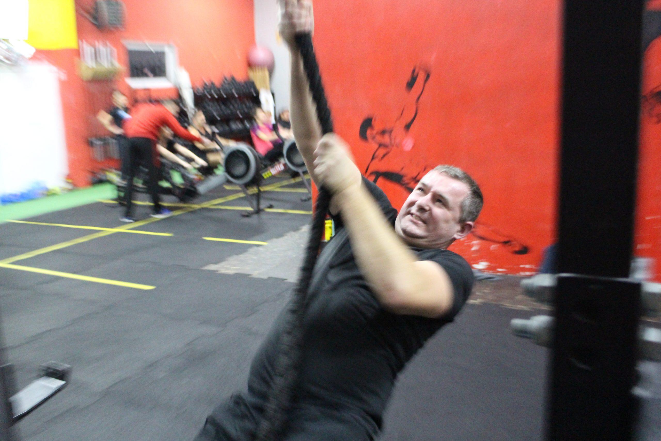 Andrzej trening siłowy z liną